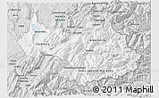Silver Style 3D Map of Savoie