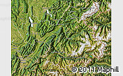 Satellite Map of Savoie