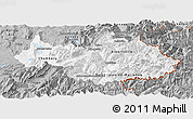 Gray Panoramic Map of Savoie
