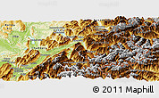 Physical Panoramic Map of Savoie