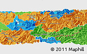 Political Panoramic Map of Savoie