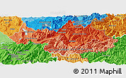 Political Shades Panoramic Map of Savoie