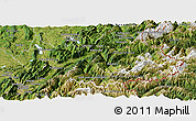 Satellite Panoramic Map of Savoie
