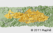 Savanna Style Panoramic Map of Savoie