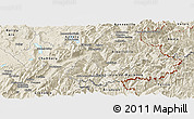 Shaded Relief Panoramic Map of Savoie