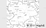 Blank Simple Map of Rhône-Alpes