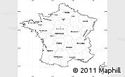 Blank Simple Map of France, cropped outside