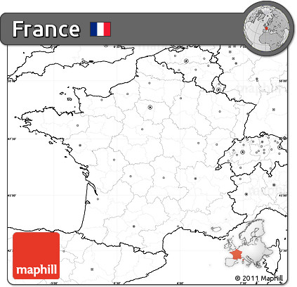 Free Blank Simple Map Of France No Labels - France map images blank