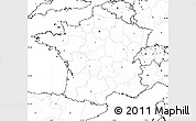 Blank Simple Map of France, no labels