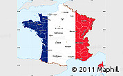 Flag Simple Map of France, single color outside