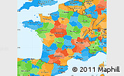 Political Simple Map of France