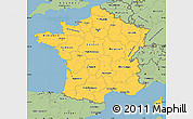 Savanna Style Simple Map of France