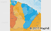 Political 3D Map of French Guiana