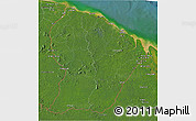 Satellite 3D Map of French Guiana