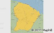 Savanna Style 3D Map of French Guiana