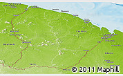 Physical Panoramic Map of French Guiana