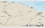 Shaded Relief Panoramic Map of French Guiana