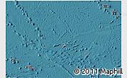 Flag 3D Map of French Polynesia, satellite outside