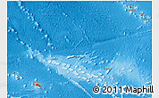 Flag 3D Map of French Polynesia, shaded relief outside