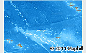 Political 3D Map of French Polynesia, semi-desaturated, land only
