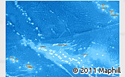 Political Shades 3D Map of French Polynesia, semi-desaturated, land only