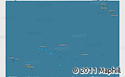 Satellite 3D Map of French Polynesia, semi-desaturated, land only