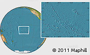 Gray Location Map of French Polynesia, satellite outside