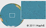 Physical Location Map of French Polynesia, satellite outside
