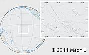 Political Location Map of French Polynesia, lighten, semi-desaturated
