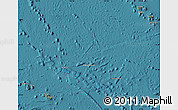 Satellite Map of French Polynesia, shaded relief outside, satellite sea