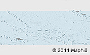 Classic Style Panoramic Map of French Polynesia, single color outside