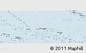 Gray Panoramic Map of French Polynesia