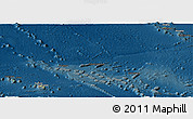 Physical Panoramic Map of French Polynesia, darken