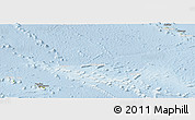 Physical Panoramic Map of French Polynesia, lighten