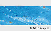 Physical Panoramic Map of French Polynesia, political outside, shaded relief sea
