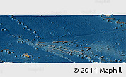 Political Panoramic Map of French Polynesia, darken