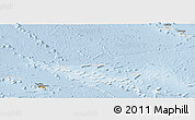 Political Panoramic Map of French Polynesia, lighten