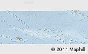 Political Shades Panoramic Map of French Polynesia, lighten