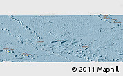 Savanna Style Panoramic Map of French Polynesia
