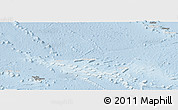 Shaded Relief Panoramic Map of French Polynesia, lighten