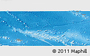 Shaded Relief Panoramic Map of French Polynesia, single color outside