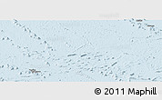 Silver Style Panoramic Map of French Polynesia, single color outside