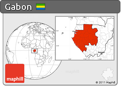 Free Blank Location Map Of Gabon - Gabon blank map