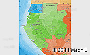 Political Shades Map of Gabon