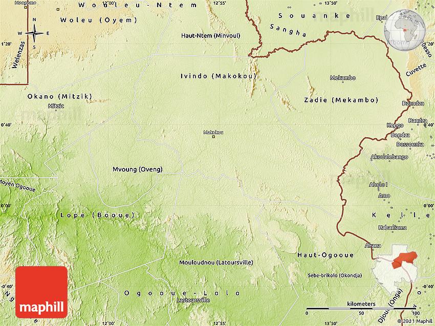 Physical Map of OgooueIvindo