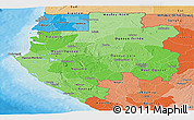 Political Shades Panoramic Map of Gabon