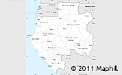 Silver Style Simple Map of Gabon