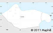 Silver Style Simple Map of Banjul