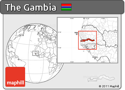 Free Blank Location Map of the Gambia
