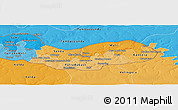 Political Shades Panoramic Map of Upper River